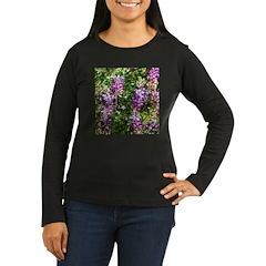 California Lupine Women's Long Sleeve Dark T-Shirt
