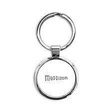 Maddison Play Clay Round Keychain