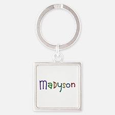 Madyson Play Clay Square Keychain
