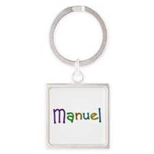 Manuel Play Clay Square Keychain
