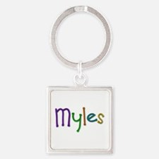 Myles Play Clay Square Keychain