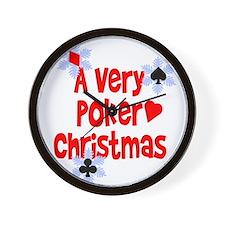 Very Poker Christmas Wall Clock
