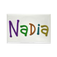 Nadia Play Clay Rectangle Magnet