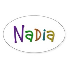 Nadia Play Clay Oval Decal
