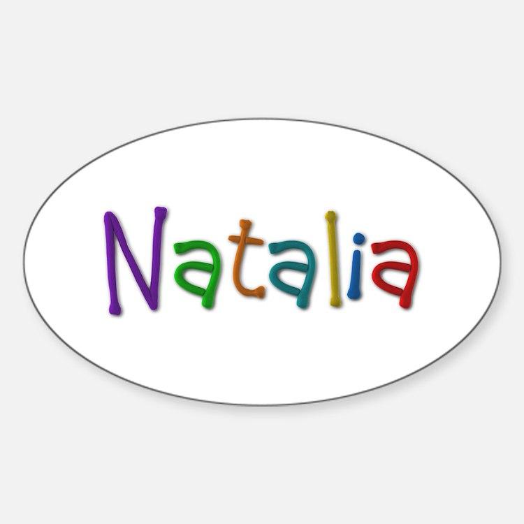 Natalia Play Clay Oval Decal