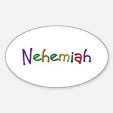 Nehemiah Play Clay Oval Decal