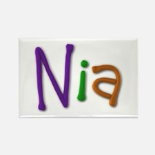 Nia Play Clay Rectangle Magnet