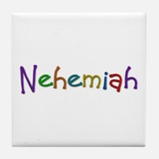 Nehemiah Play Clay Tile Coaster