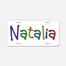 Natalia Play Clay Aluminum License Plate