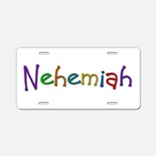 Nehemiah Play Clay Aluminum License Plate