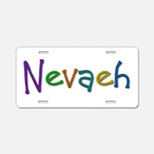 Nevaeh Play Clay Aluminum License Plate