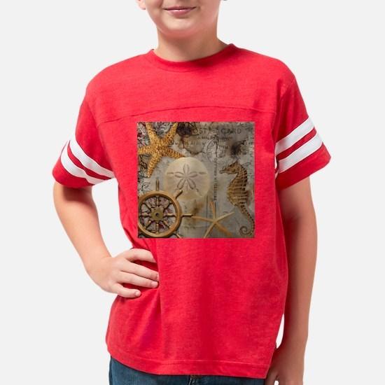 Nautical Postcard Collage Youth Football Shirt