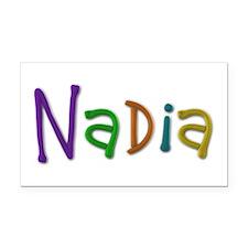 Nadia Play Clay Retangular Car Magnet