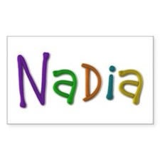 Nadia Play Clay Rectangle Decal