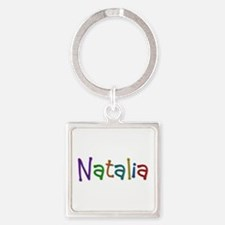 Natalia Play Clay Square Keychain