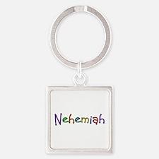 Nehemiah Play Clay Square Keychain