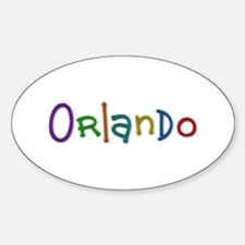 Orlando Play Clay Oval Decal