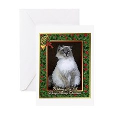 Ragdoll Cat Christmas Card Greeting Card