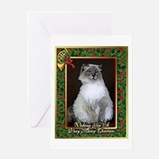 Ragdoll Cat Christmas Card Greeting Card