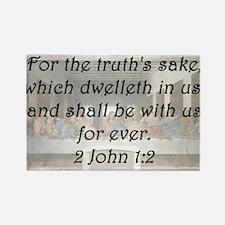 2 John 1-2 Rectangle Magnet