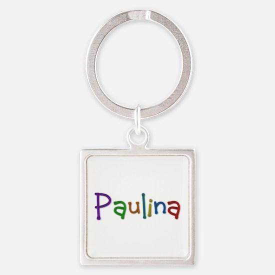 Paulina Play Clay Square Keychain
