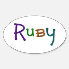 Ruby Play Clay Oval Decal