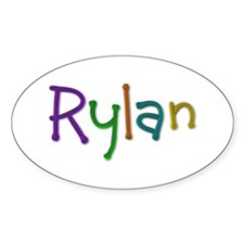 Rylan Play Clay Oval Decal