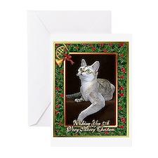 Singapura Cat Christmas Greeting Cards (Pk of 20)
