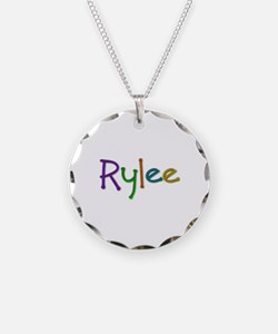 Rylee Play Clay Necklace Circle Charm