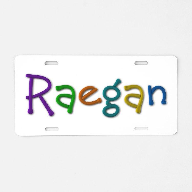 Raegan Play Clay Aluminum License Plate