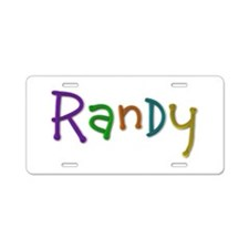 Randy Play Clay Aluminum License Plate