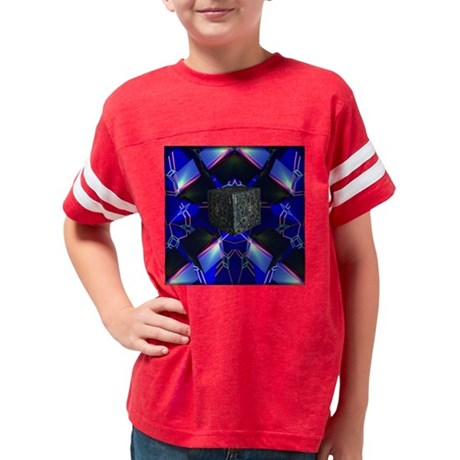Blue Borg Tile Youth Football Shirt