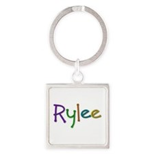 Rylee Play Clay Square Keychain