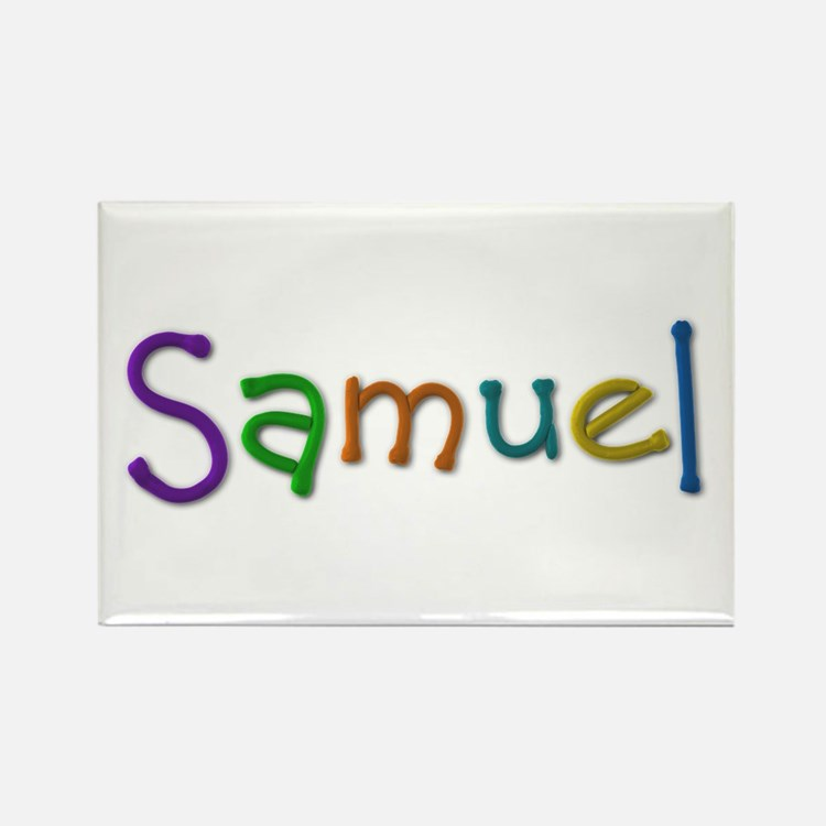 Samuel Play Clay Rectangle Magnet