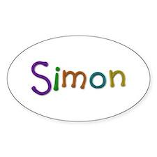 Simon Play Clay Oval Decal