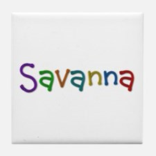 Savanna Play Clay Tile Coaster