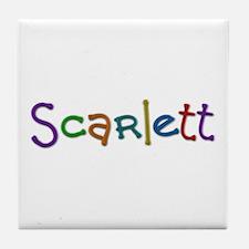Scarlett Play Clay Tile Coaster
