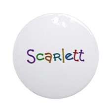Scarlett Play Clay Round Ornament
