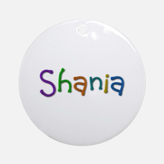 Shania Play Clay Round Ornament