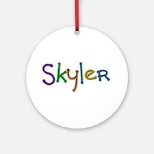 Skyler Play Clay Round Ornament