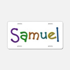 Samuel Play Clay Aluminum License Plate