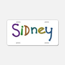 Sidney Play Clay Aluminum License Plate