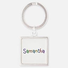 Samantha Play Clay Square Keychain