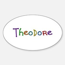 Theodore Play Clay Oval Decal
