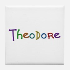 Theodore Play Clay Tile Coaster