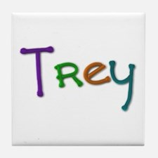 Trey Play Clay Tile Coaster