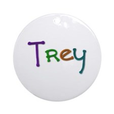 Trey Play Clay Round Ornament