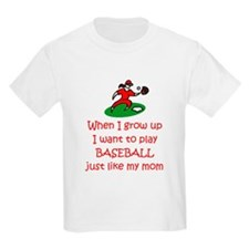 Baseball...just like MOM Kids T-Shirt