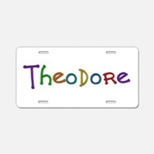 Theodore Play Clay Aluminum License Plate