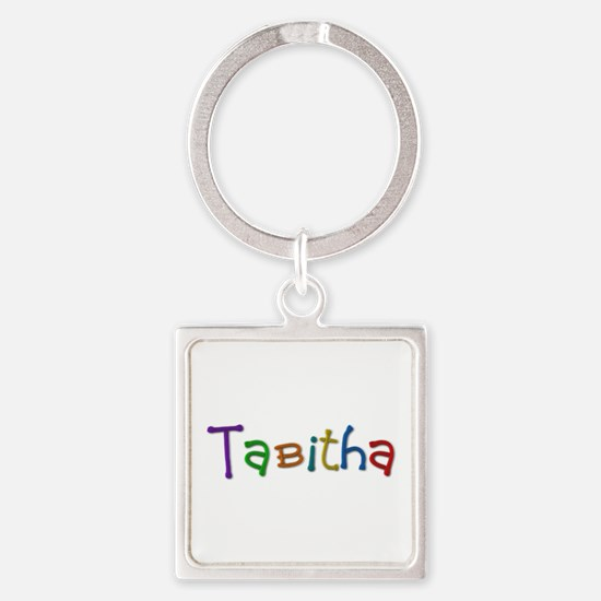 Tabitha Play Clay Square Keychain